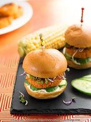Thai Coconut Sliders (2/2) (Bitter-Sweet-) Tags: vegan food entree main burgers sliders patties mini buns bread coconut thai spice asian spicy curry rice hot savory easy summer vegetarian meatless grilling