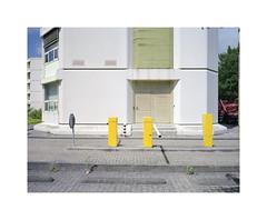 gate (ha*voc) Tags: mamiya7ii 65mm rangefinder film 6x7 220 mediumformat fujinps160 urban haarlem urbanfragments urbanabstraction yellow