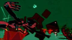 Who stole the sky ? 2 / Artist : Theda Tammas (OFF till 14th Bamboo Barnes - Artist.Com) Tags: thedatammas secondlife installation art virtualart digitalart surreal whostolethesky lea red green black bamboobarnes moon