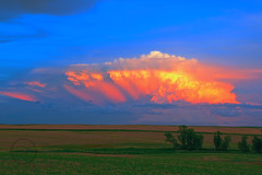 Color Storm (breann.fischer) Tags: sunset prairie prairielife wildprairie colors storm stormclouds colorstorm fields greatplains northdakota prairieviews landscape nature beauty amazing beautyseeker beautyhunter stormcell