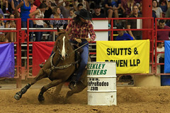Barrel Racing (taddzilla) Tags: barrelracing barrel cowgirl davieprorodeo weekleybrothers rodeo horse racing turn dirt bergeronrodeogrounds davie florida 2016 allrightsreserved