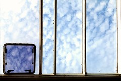 Window to the world. On the daily commute, distracting myself waiting for a delaaaaaaayed Southern Train. Explored 3/09/2016 #359 (Rushie.) Tags: throughthewindow window clouds windowtotheworld watchingtheworldgoby commuteviews dailyjourney rushie laurarushrivoire flickrexplore explored