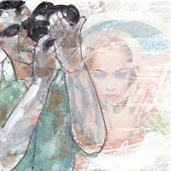 # 254 (10-09-2016) (h e r m a n) Tags: herman illustratie tekening bock oosterhout zwembad 10x10cm 3651tekenevent tegeltje drawing illustration karton carton cardboard man male photographer photo foto fotograaf