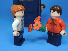 Flowers for Amy (MrKjito) Tags: lego minifig rory amy doctor who ponds flowers 10 matt smith custom