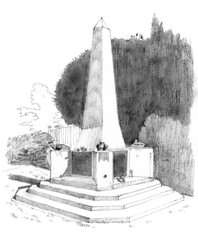 Memorial at Pozieres, to mark the first use of tanks on the battlefield during the Battle of the Somme