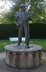 [44908] Rufford Abbey : Oil Patch Warrior (Budby) Tags: rufford nottinghamshire abbey sculpture publicart statue