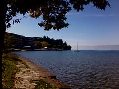 Ohrid Lake and Coast (nazmije.d) Tags: ohridlake ohridskoezero ohrid fall tree nature landscape beautiful water lake coast sunny soncevo esen oktomvri october