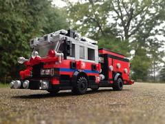 Brick water Fire, Wagon 341 (brickwaterfire) Tags: fire lego toy dept rescue ems emergency 911 112 usa canada photography business war wagon hose water foam