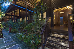 Wooden Villas evening (Pandu Adnyana Photography Tour) Tags: fullywooden house wood secluded private pool restaurant rooftop bar senggigi villa accommodation meeting room spa massage coconut resort lombok