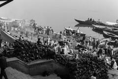 Moksha - Ghats of Varanasi (Well-Bred Kannan (WBK Photography)) Tags: travel blackandwhite india mono nikon indian traditional varanasi tradition hinduism kashi ganga ganges rituals cremation ghats banaras kannan kasi wellbred nikond3200 wbk hinduculture weekendwalk banarasi dsc0265 harishchandraghat ghatsofvaranasi flickrtravelaward wbkphotography kannanmuthuraman
