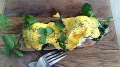 Eggs Benedict (RobW_) Tags: africa breakfast march estate wine south jordan western eggs cape friday stellenbosch benedict 2015 mar2015 13mar2015