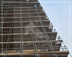 Brunswick House scaffold weather protection - Tufcoat Shrink Wrap