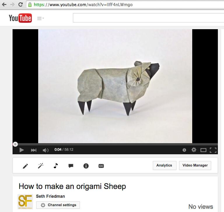 Sheep Tutorial Friedman Origami Tags