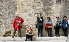 Waiting for the rest of the group ... (iharsten) Tags: waiting tourists matera