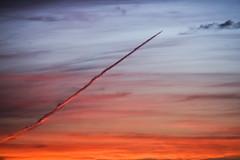 Iridescent Contrail (thefisch1) Tags: sunset sky plane nikon colorful contrail calendar tube jet trail kansas iridescent nikkor tubular puffy flyover linear oogle aricraft d810