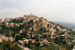 1990 France // Wandern in der Provence // Gordes (maerzbecher-Deutschland zu Fuss) Tags: france trekking frankreich hiking provence gordes wandern 1990 maerzbecher