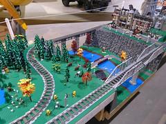 Moose Jaw Train Show (Saskatchewan Lego Users Group) Tags: show city castle fairytale train town lego space pirates arctic xmen slug moosejaw gbc 2015 chima