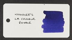 Noodler's La Couleur Royale - Word Card