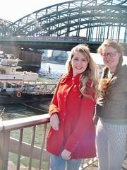 Walking down the Rhine (Elysia in Wonderland) Tags: bridge holiday water river germany walking lucy cologne rhine banks elysia