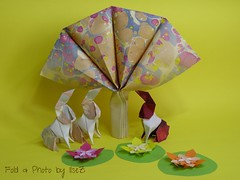 The French Easter Connection (esli24) Tags: tree easter origami hare ostern arbre osterhase origamitree papierfalten origamihare barthdunkan esli24 ilsez vivianeberty origamiosterhase origamiabre origamibaum origamiwunderbaum