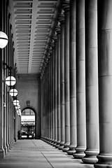 Chicago Union Station Colonnade - (Dennis A. Livesey) Tags: usa car station track interior amtrak passenger superliner