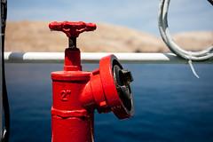 Rab, 2016 (renatodasilva   selected) Tags: red sea summer ferry hydrant fire close croatia