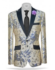 sj268 (arzelapparel) Tags: blue wedding classic floral modern gold slim cream style prom tuxedo jacket trendy blazer angelino suave gq menswear arzel suitgame