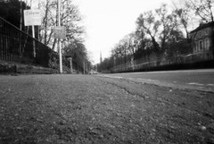 Great Western Road (nils_aksnes) Tags: blackandwhite bw glasgow pinhole ilford wppd worldwidepinholephotographyday ondu ondu135