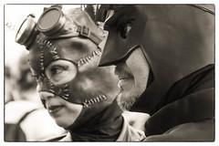 DSC_1456-Edit-1 (craigchaddock) Tags: steampunkbatman steampunkcatwoman batman catwoman female sdcc2016 sandiegocomiccon2016 comiccon2016 sandiegocomiccon comiccon cosplay cosplayer crossplay respectcosplayers streetportraiture streetphotography consent monochrome blackandwhite bw
