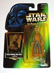 saelt-marae yakface with battle staff star wars power of the force 2 green card 1997 collection 2 basic action figures hasbro mosc 2a (tjparkside) Tags: 2 yak two green face mos four hope star force power with action 4 guard battle anh double collection staff card darth weapon pistol figure jabba modified 1997 kenner wars vader figures marae cantina basic episode ep weapons patron trigger blaster hasbro eisley tatooine hutt anewhope potf yakface barreled anew cardback potf2 saeltmarae saelt 1iv