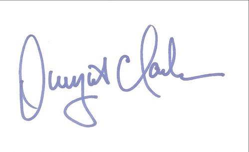 Autographed 3x5 Card - Dwight Clark