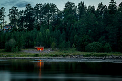 Shelter by the river (fredrik.gattan) Tags: trees camp people seascape reflection forest river landscape fire countryside seaside sweden hiking 1750 shelter tamron dallven lvkarleby