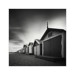 * Bathing Boxes Study I * (^soulfly) Tags: longexposure morning blackandwhite monochrome australia melbourne victoria bwfilter ef1740mmf40l nd110 canon5dmark2 brigthonbathingboxes