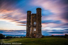 Towering (James.Whitrow) Tags: old sunset brick tower castle field clouds landscape countryside long exposure view streak cloudy country hill towers broadway gloucestershire gloucester land medievil cheltenham towering