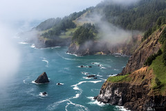 Foggy Oregon Coast (Sophie Carr Photography) Tags: sea fog oregon coast roadtrip pacificocean ottercrest otterrock seafog