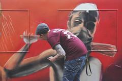 'UP #3 Artist at work' (Timster1973 - thanks for the 11 million views!) Tags: tim knifton timster1973 timknifton canon color colour photo bristol upfest upfest2016 2016 streetart graffiti graff art artwork england artist artists graffitiartists bedminster southville painting paint artistatwork spraying