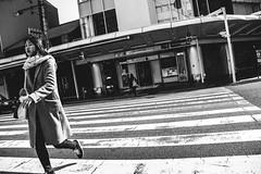 Shijo Kawaramachi, Kyoto (PeiPei Yang) Tags: street bw girl japan japanese blackwhite kyoto asia snapshot