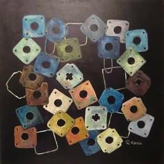 Zusammenhalt (Renate Karle) Tags: acryl malerei