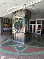 Miracle Theater Coral Gables (Phillip Pessar) Tags: miracle theater coral gables cinema art deco terrazzo ticket booth building architecture floor roadside theatre