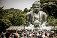 The Crowded Buddha (GimpRider) Tags: japan outdoor buddha giant green people tourists photography selfies kamakura kanagawa kotoku