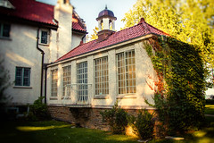 The Orangery (A Great Capture) Tags: architecture building property windows historic home house agreatcapture agc wwwagreatcapturecom adjm toronto on ontario canada canadian photographer ash2276 ashleylduffus ald mobilejay jamesmitchell summer summertime 2016 mississauga peelregion peel adamsonestate vines sundown dusk sunset southfacade orangery waterfront heritage flemishdetails colonialrevivalstyle flemish colonial revival greenhouse