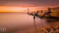Sunset Groyne (ianbrodie1) Tags: seaton sluice tyneside north sea longexposure nikon d750 haida 10 stop water groyne wood posts sand red sunset cloudsstormssunsetssunrises outdoors summer sun