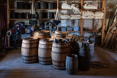 Back Room 1s.jpg (Greg Riekens) Tags: wood usa historic fortsnelling history stpaul barrel barrels storeroom minnesota
