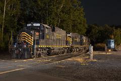 Sleepy Geeps (T-3 Photography) Tags: train trains railroad railfan geep gp locomotive diesel winchesterwestern night nighttime longexposure