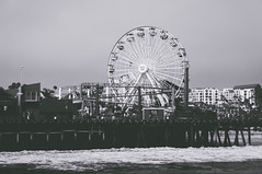 BW Cali (3 of 13) (MC Page Photo) Tags: black white california santamonica pier beach ferriswheel amusment park bw sony nexc3