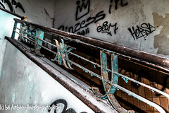Banister of Dolhain (Ambach Raiders Photography) Tags: urbanexploration urbex lost place abandoned decay rusty dusty banister treppengelnder
