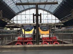 Eurostars (My photos live here) Tags: london england capital city st pancras international station eurostar train rail railway terminus camden urban i phone 5s