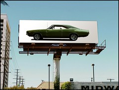 1968 Dodge Charger R/T - Classic Musclecar (As Advertised) (1968 Dodge Charger R/T | Scott Crawford) Tags: 1968 1968dodge 1968dodgecharger scott scottcrawford vintage automobile mopar outdooradvertising sign signs bbody classic green vinyltop cragar cragars tas american americanmuscle interesting