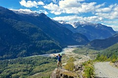 Tuesday (Whistler Whatever) Tags: canada squamish river cliff green snow valley mountains sunny summer trees me glacier hike ledge bc