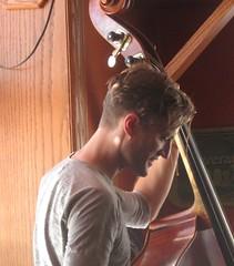 Jon Letts on bass (cohodas208c) Tags: jonletts jazz blues northlandpub landmarkhotel jazzbrunch bass doublebass marquette